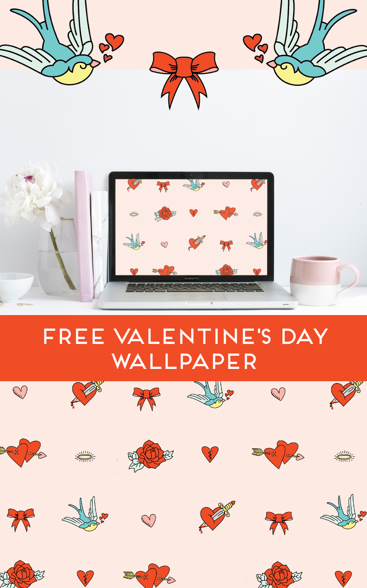 Free Valentine S Day Tattoo Inspired Desktop Wallpaper Gathering