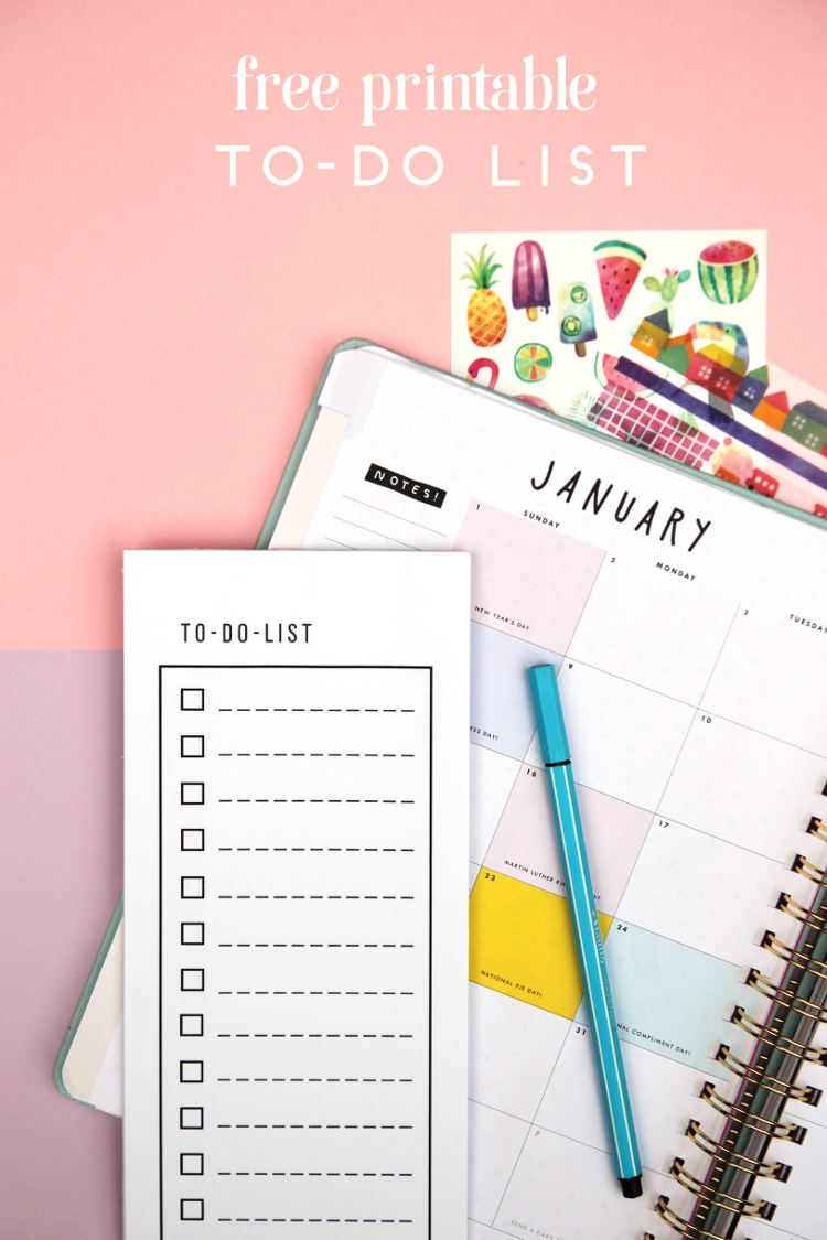 FREE PRINTABLE TO-DO LIST NOTEPAD. — Gathering Beauty