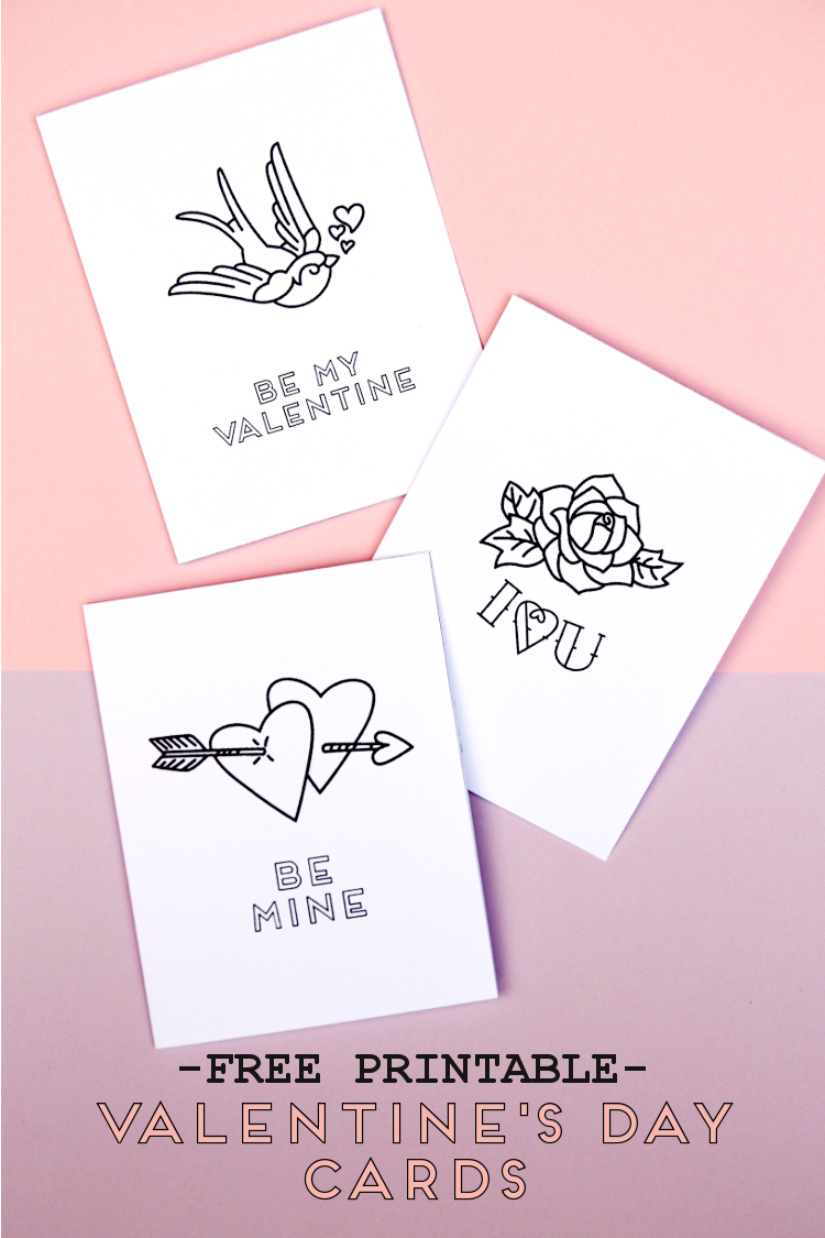 Free Printable Valentine S Day Tattoo Inspired Cards Gathering Beauty