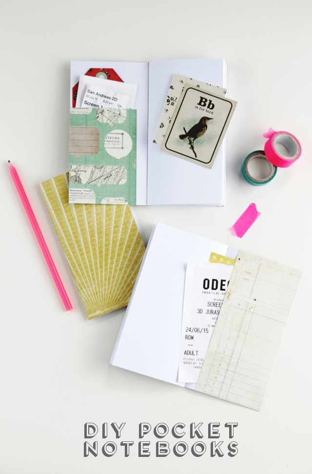 Diy Pocket Notebooks.