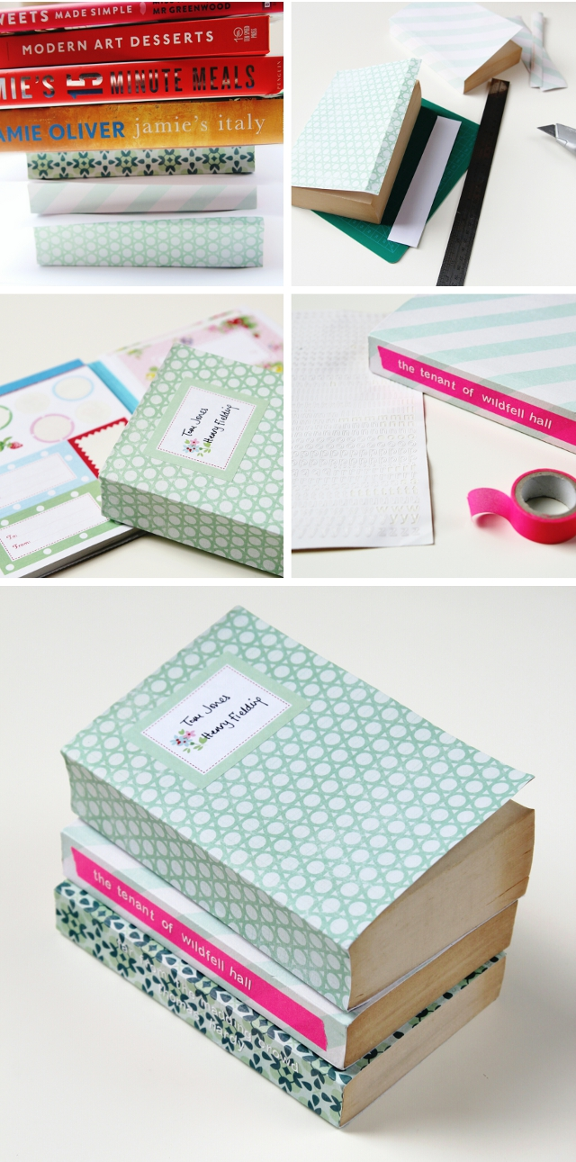 Diy Scrapbook Paper Book Covers Gathering Beauty