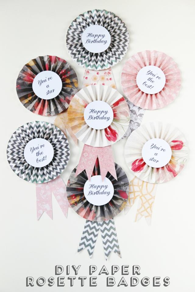 Diy paper rosette badges gathering beauty mightylinksfo