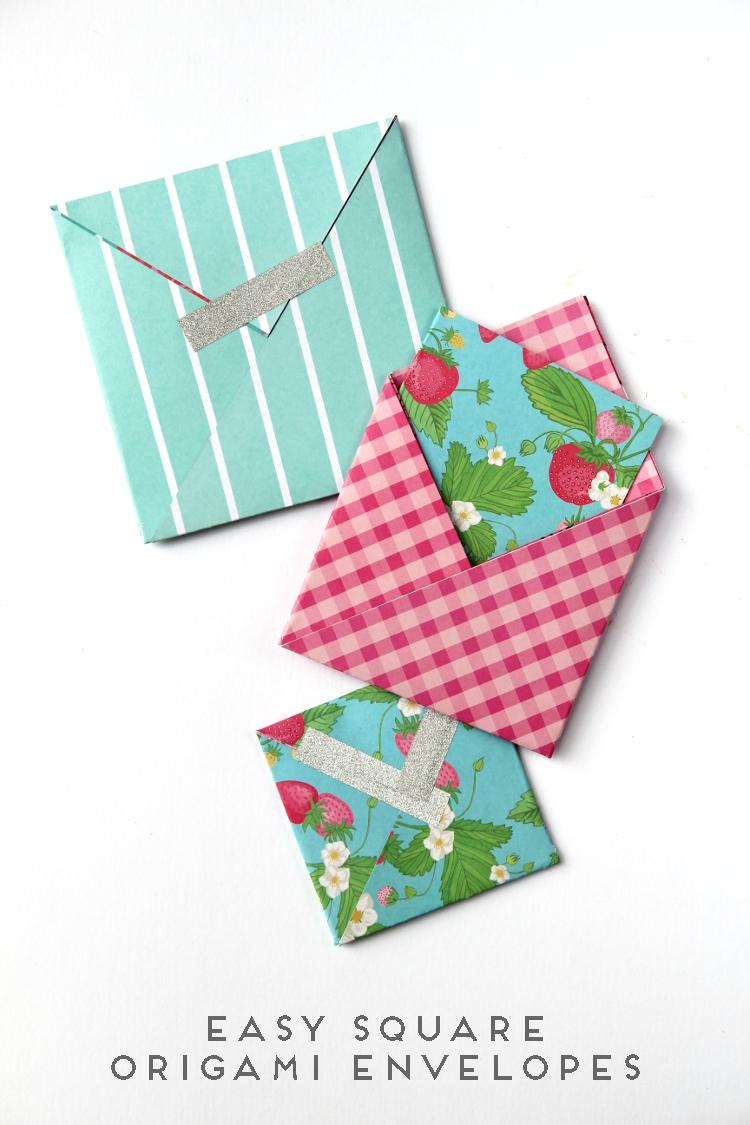 Easy Square Origami Envelopes Gathering Beauty