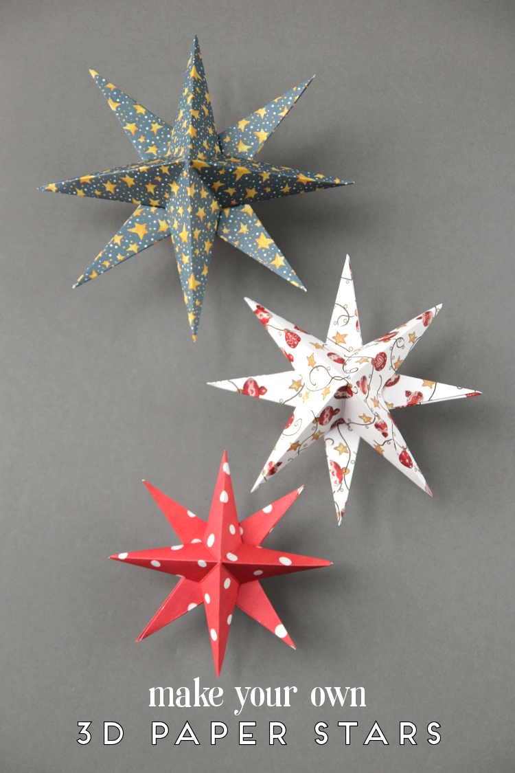 Diy 3d paper star christmas decorations gathering beauty solutioingenieria Images
