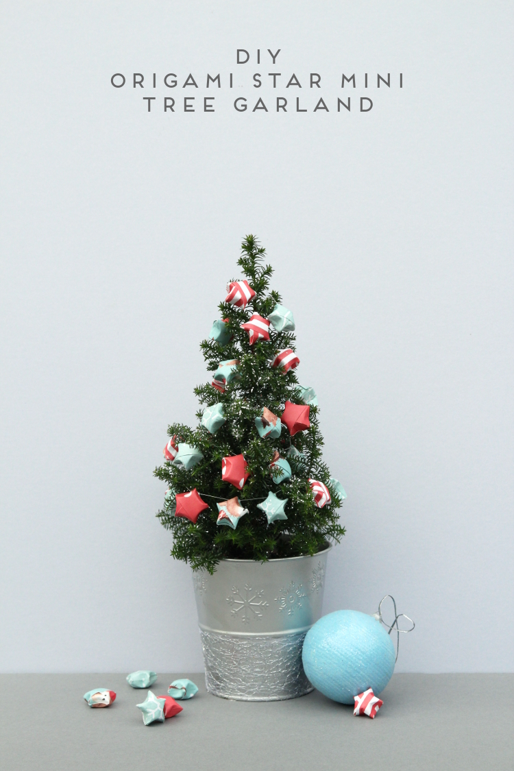 DIY ORIGAMI STAR MINI TREE GARLAND.