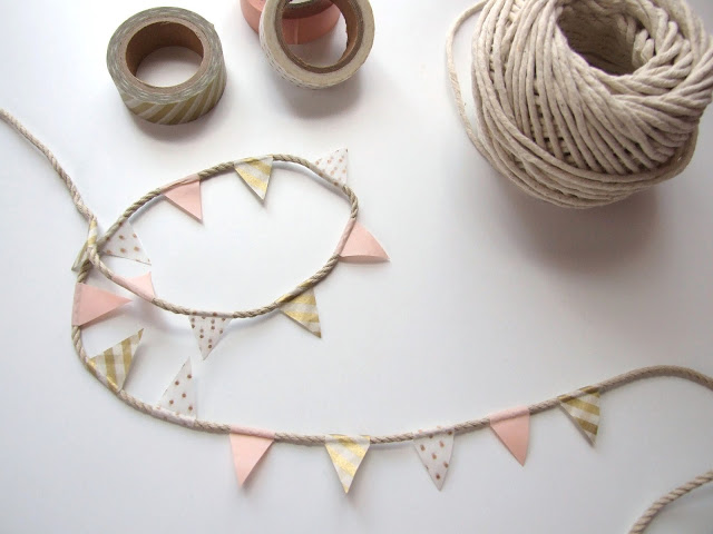 Five Minute Crafts - Diy Washi Tape Bunting - Gathering Beauty