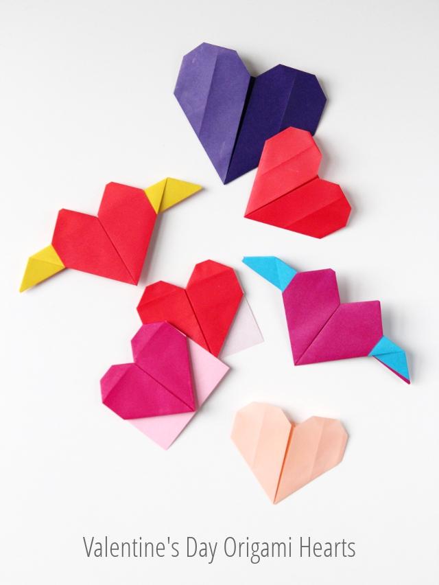 Valentines Day Origami Hearts Three Ways Gathering Beauty