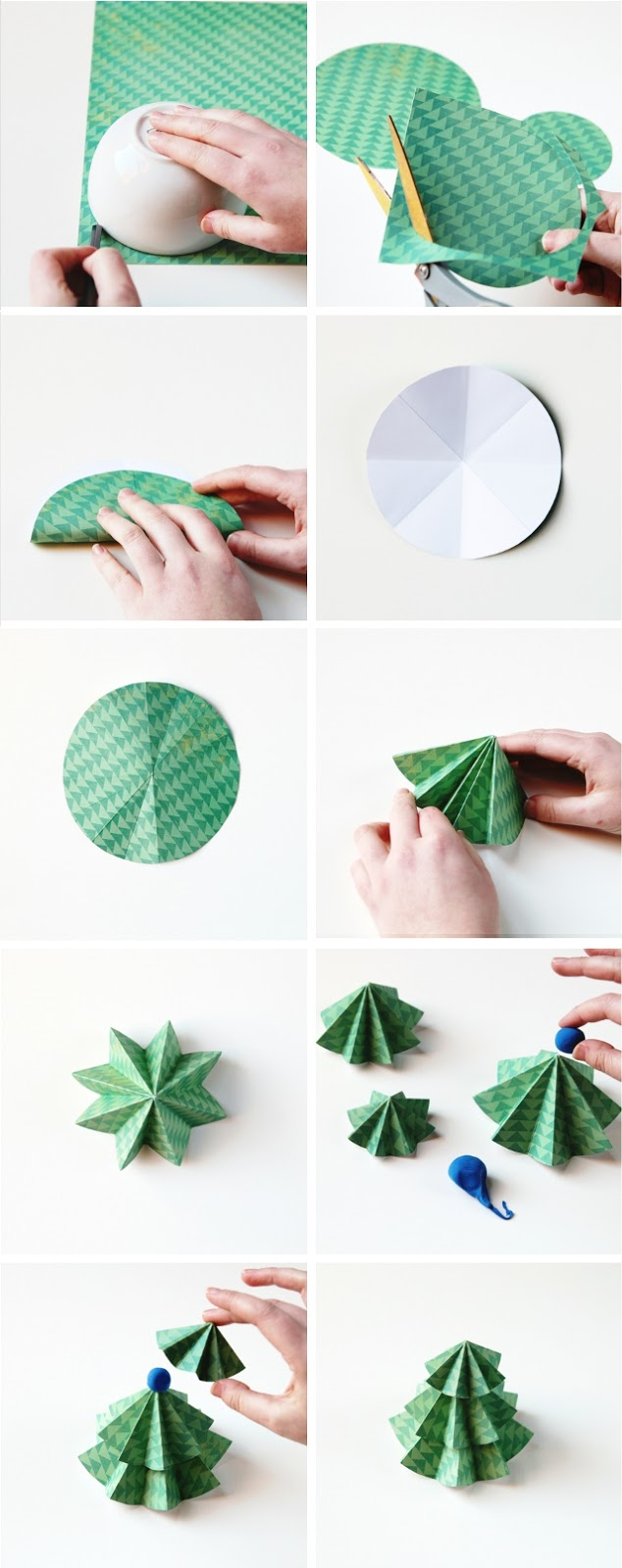 how to make diy paper christmas trees - How To Make Paper Christmas Trees