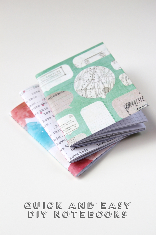 Quick and easy diy sewn notebooks