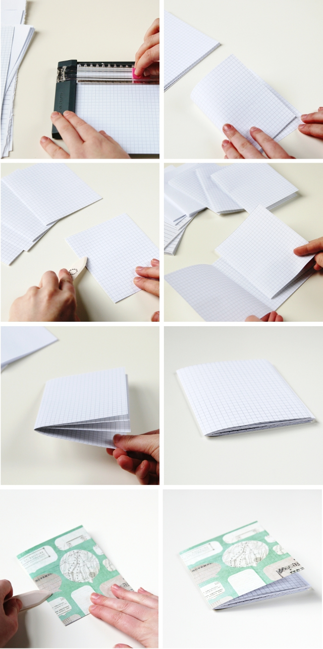 Quick and Easy Stitched Diy Notebooks