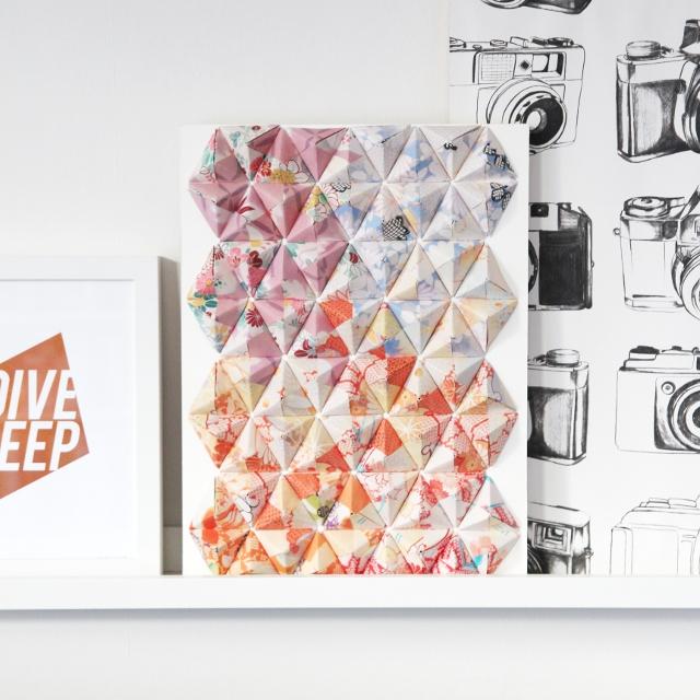 Diy 3-D Origami Wall Art