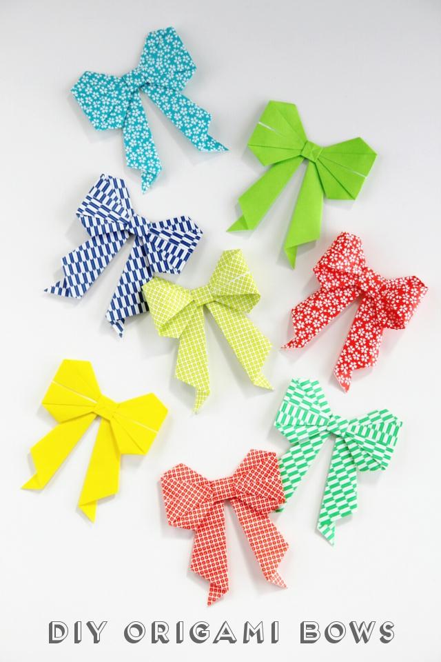 Diy Origami Bow Gathering Beauty