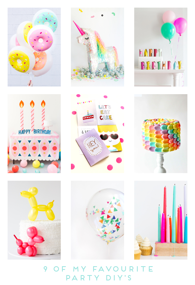9 OF MY FAVOURITE PARTY DIY'S.