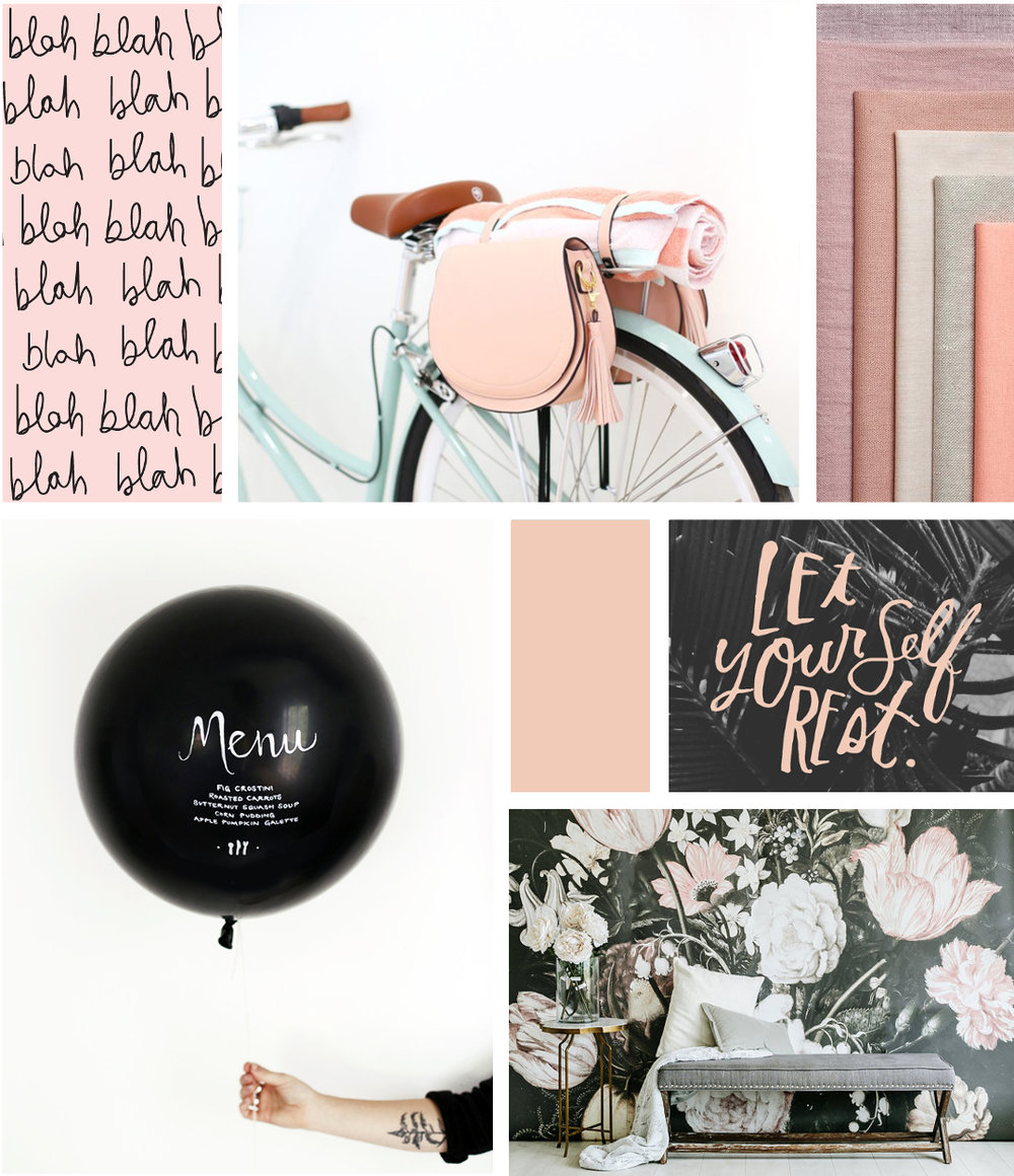 MONDAY MOODBOARD - BLUSH PINK AND A TOUCH OF BLACK.
