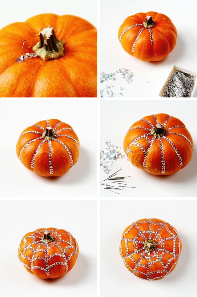 How to make Diy Sequin Decorated Pumpkins