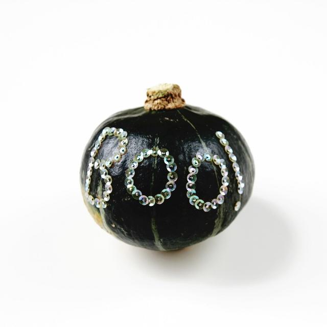 Diy Sequin Boo Pumpkin