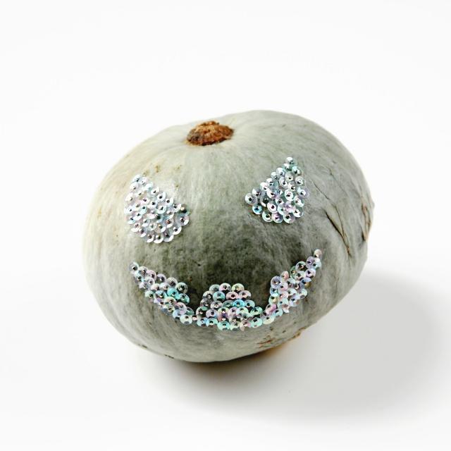Diy Sequin Scary Face Pumpkin