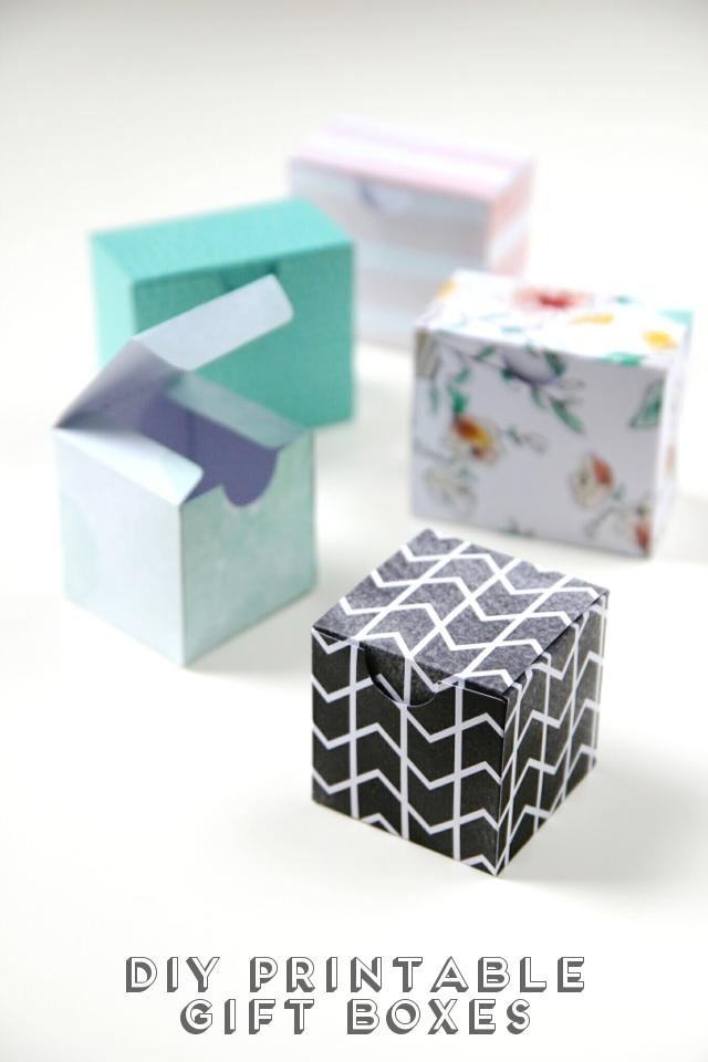 Printable Diy Gift Boxes Gathering Beauty