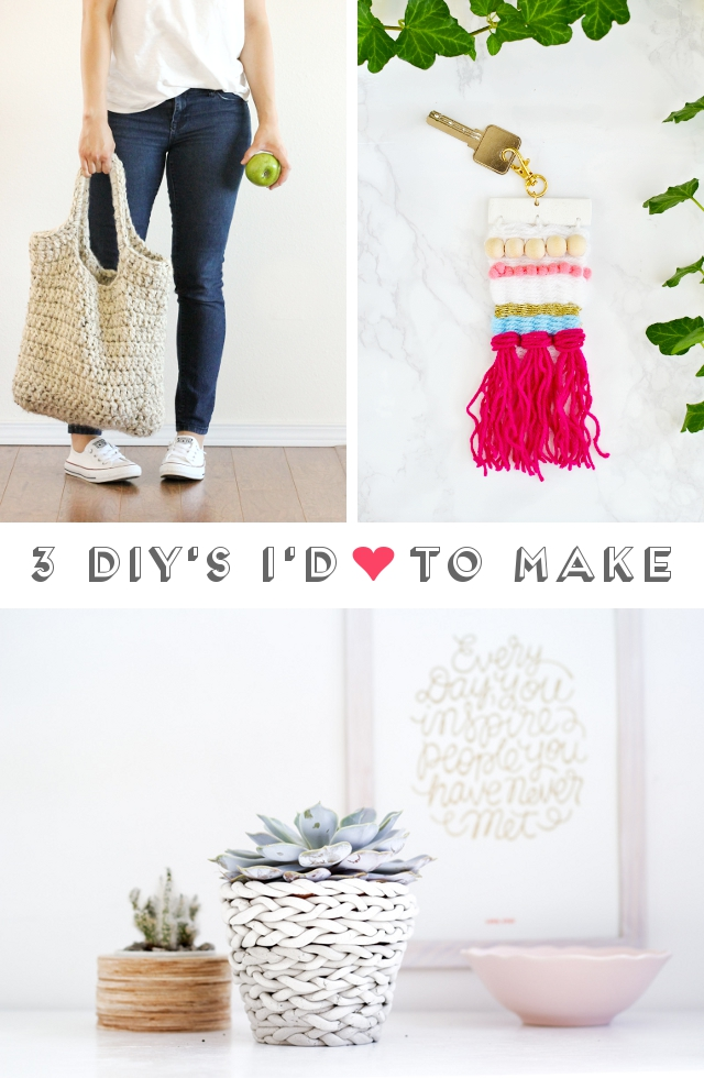 3 Diy's I'd Love To Make - Crochet // Weaving // Clay