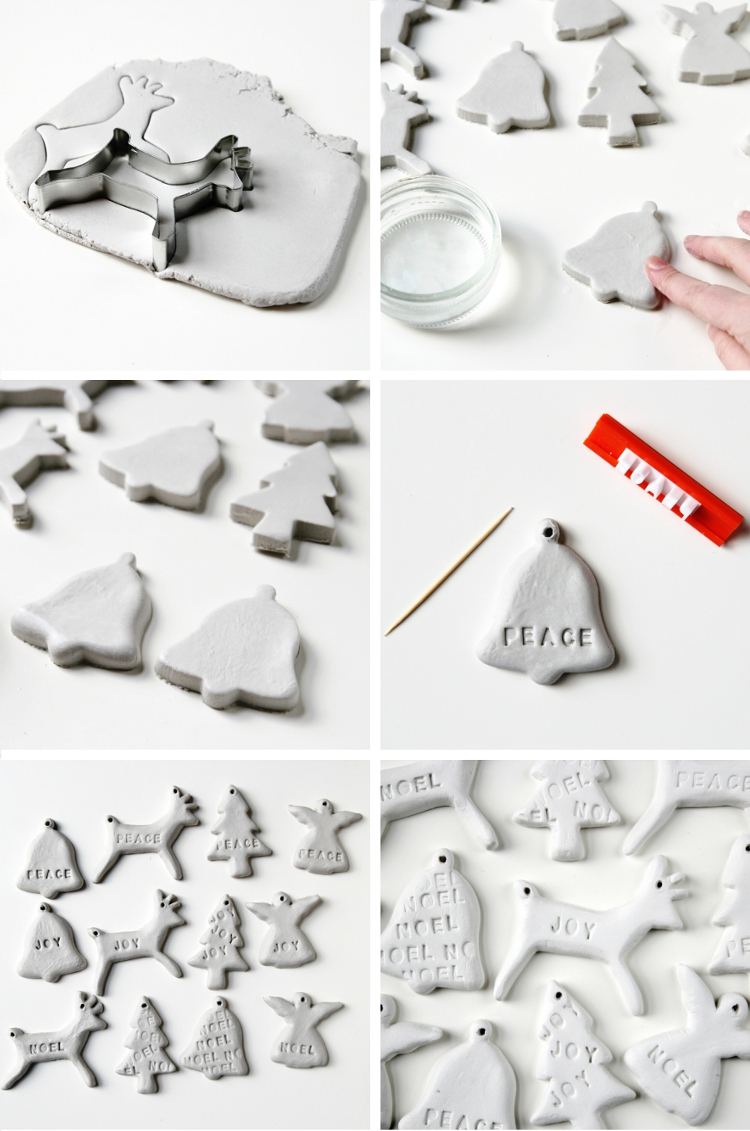 How to make Diy Clay Christmas Tree Decorations.
