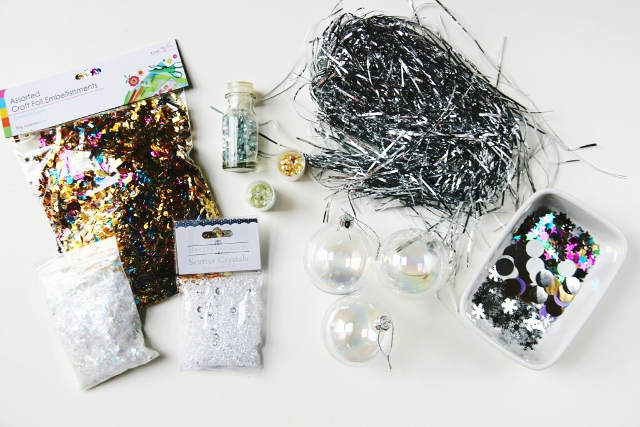 Diy sparkle filled christmas baubles gathering beauty supplies for diy sparkle filled christmas baubles solutioingenieria Images