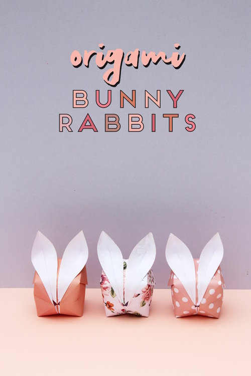 Diy Origami Easter Bunny Baskets Gathering Beauty