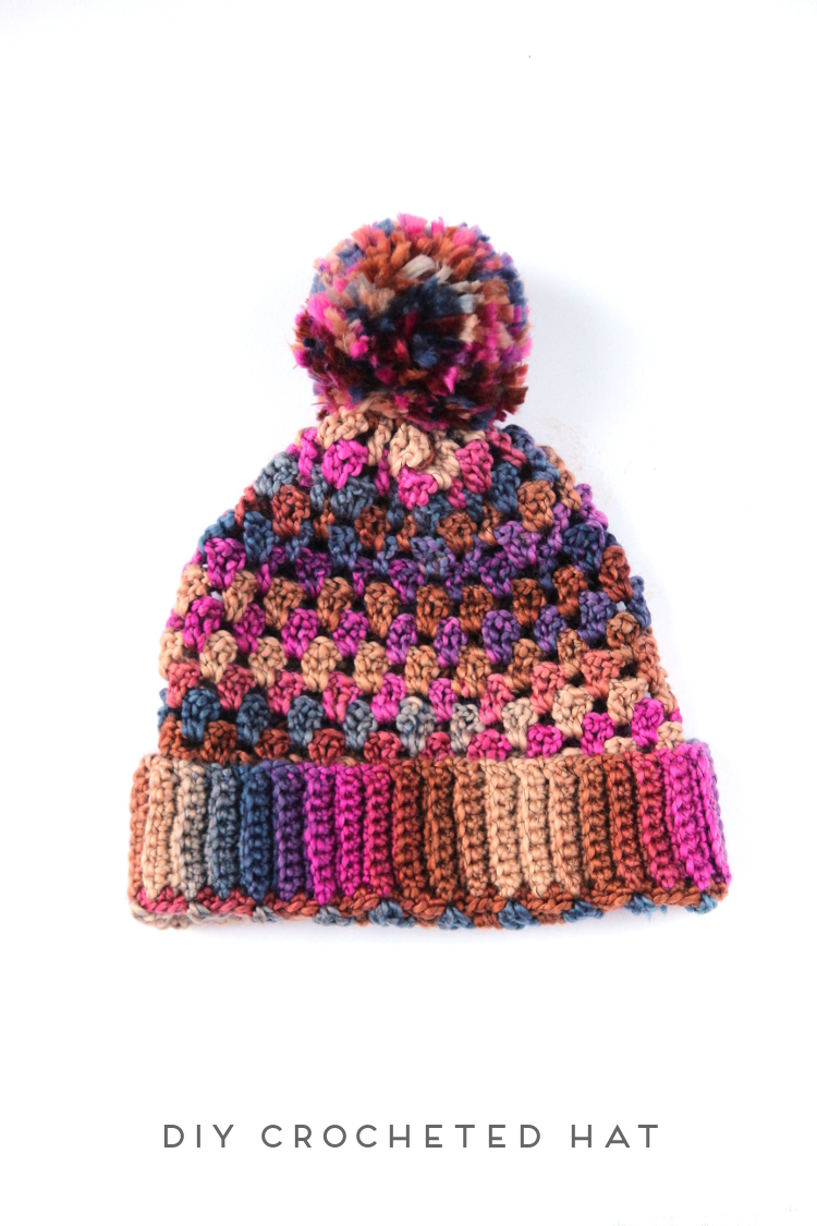 DIY (SORT OF) GRANNY STITCH CROCHET HAT. — Gathering Beauty 3683e9260d7