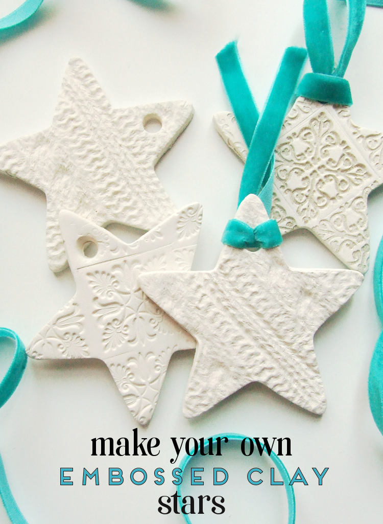 Diy Embossed Clay Star Decorations Gathering Beauty