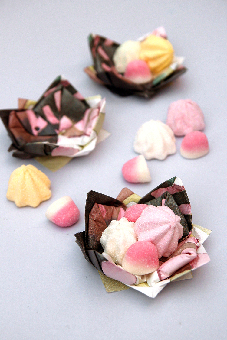 How To Make Origami Lotus Flower Candy Dishes Gathering Beauty