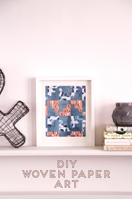 DIY | Woven Paper Wall Art