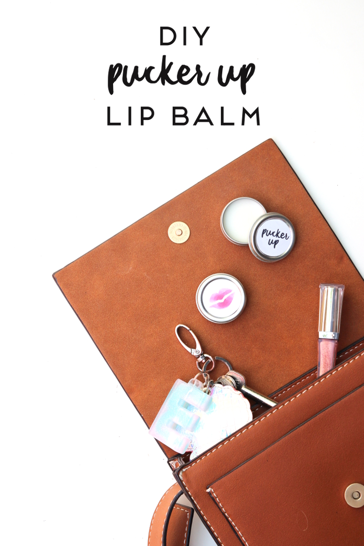 DIY 'PUCKER UP' LIP BALM WITH PRINTABLE LABEL.