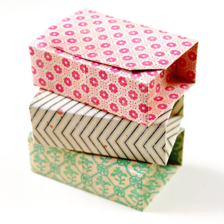 Rectangular Diy Origami Boxes Gathering Beauty