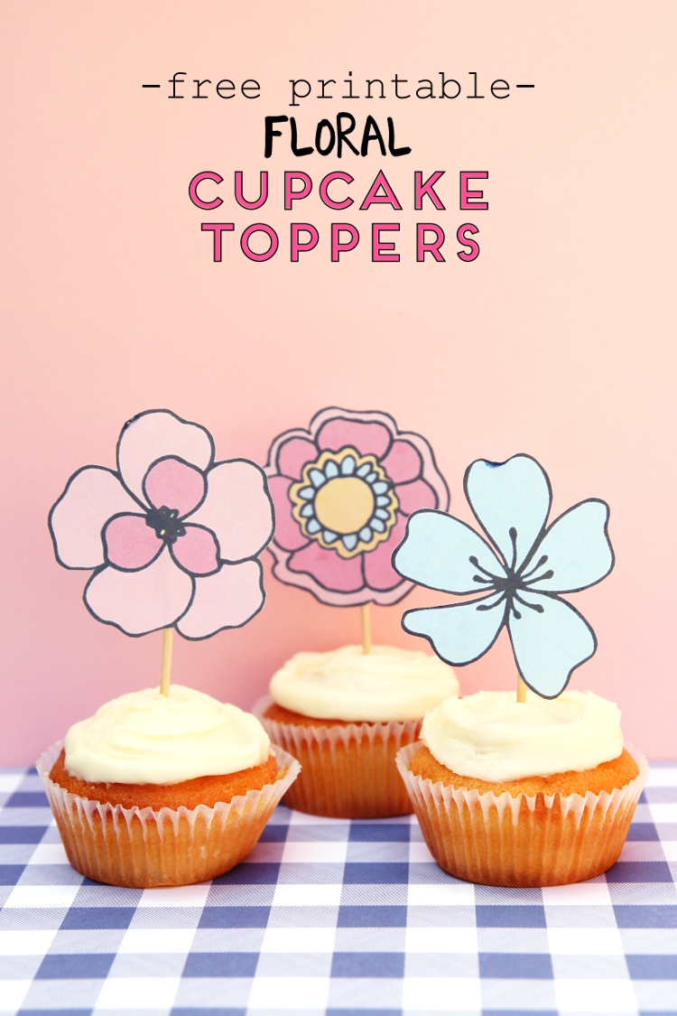 Free Printable Floral Cupcake Toppers Gathering Beauty