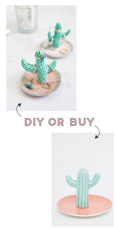 Diy or Buy - Cactus Ring Jewellery Dish #cactus #diy #craft #clay #claycraft