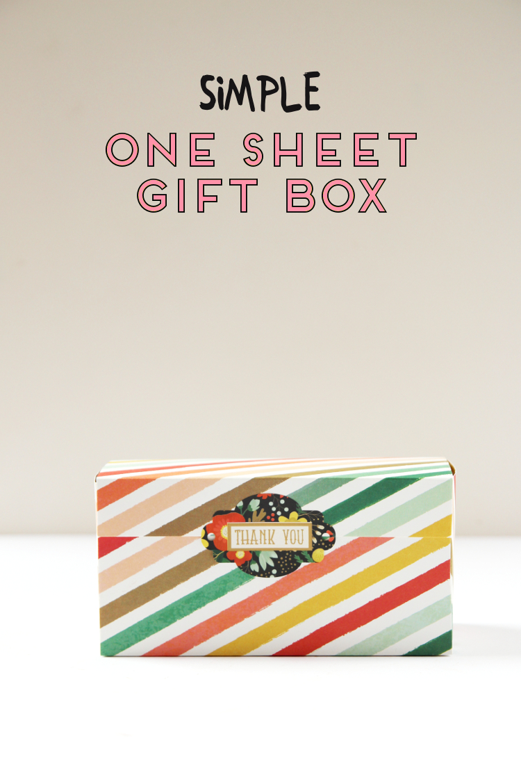 Easy Diy Gift Box Made Using One Sheet Of Paper Gathering Beauty