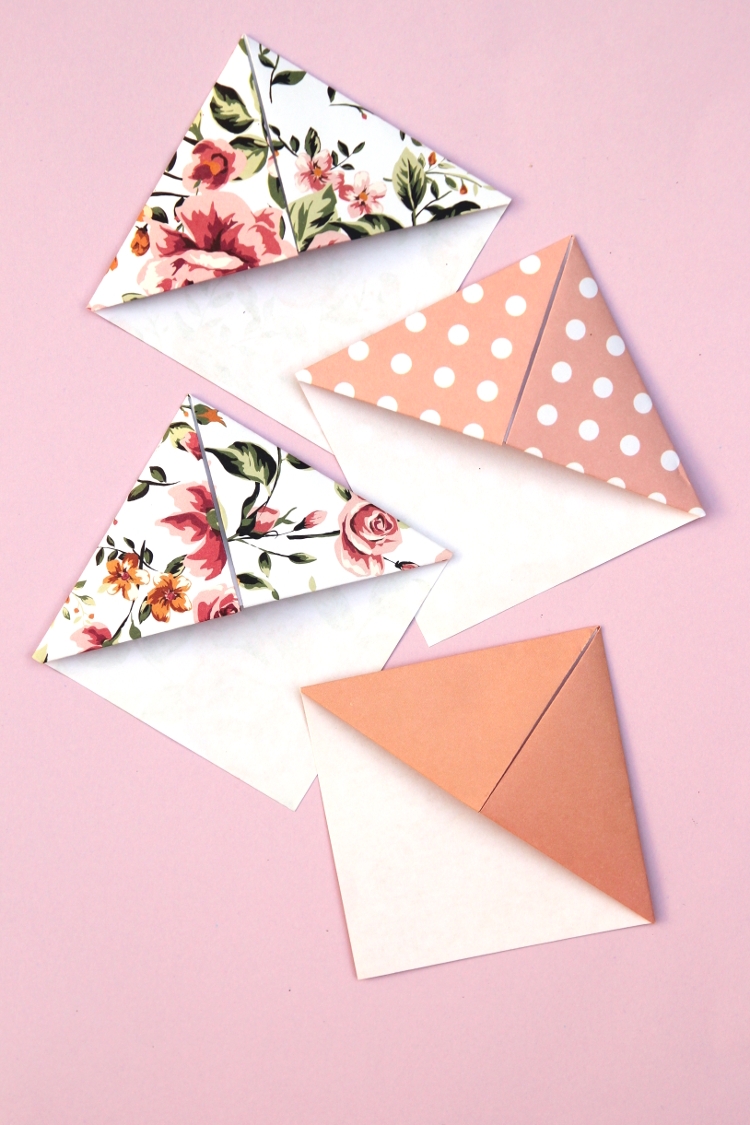 Make Your Own Origami Corner Bookmarks Gathering Beauty
