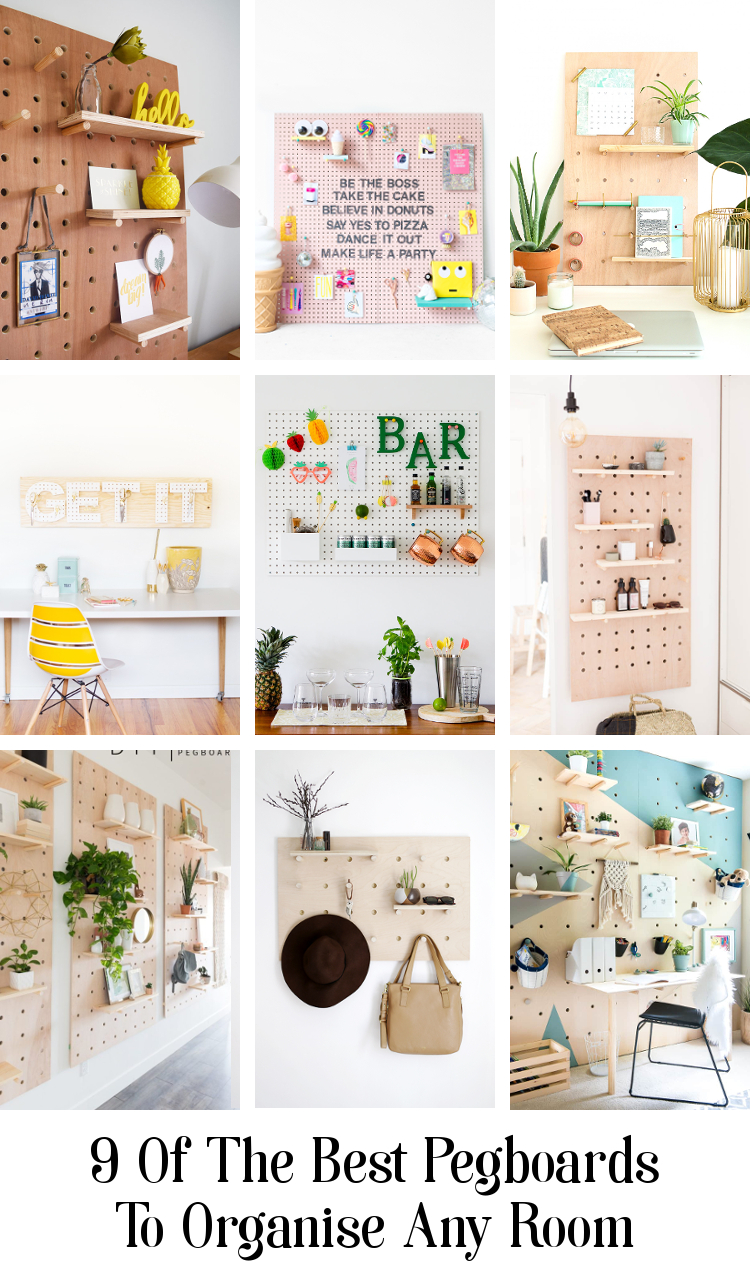 9 OF THE BEST PEGBOARDS TO HELP ORGANISE ANY ROOM #diy #organization #homediy #storage #pegboard