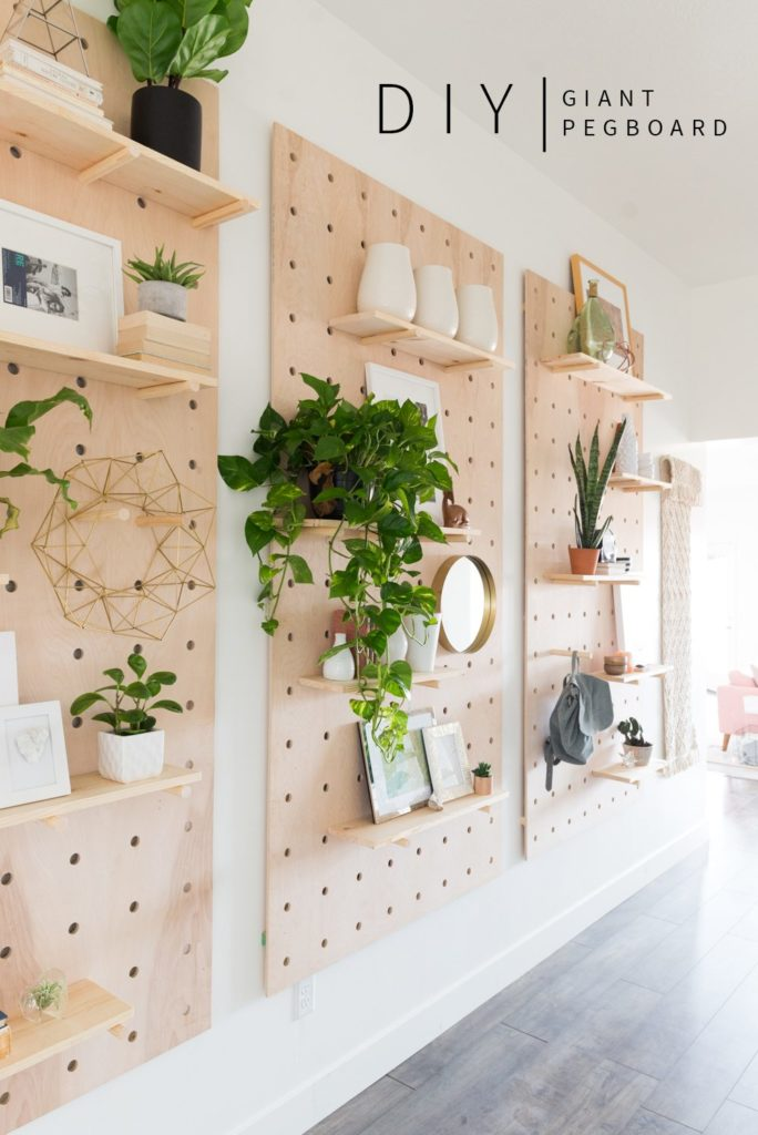 Giant Pegboard DIY from Vintage Revivals