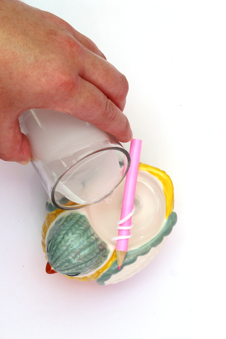 DIY CITRONELLA CANDLES OR HOW TO TURN JUST ABOUT ANYTHING INTO A CANDLE INCLUDING MUGS AND EGG CUPS #CANDLE #DIYCANDLE #CITRONELLA #SUMMER #DIY #CRAFTS #GATHERINGBEAUTY