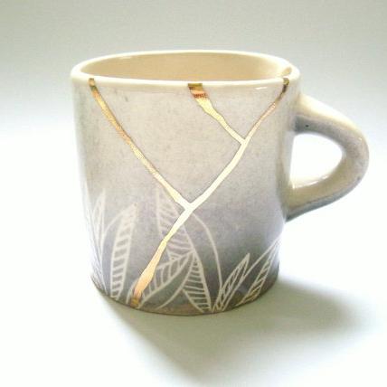 KIRA CALL CERAMICS - Who wouldn't want a beautiful kitsunga inspired coffee mug. I mean...