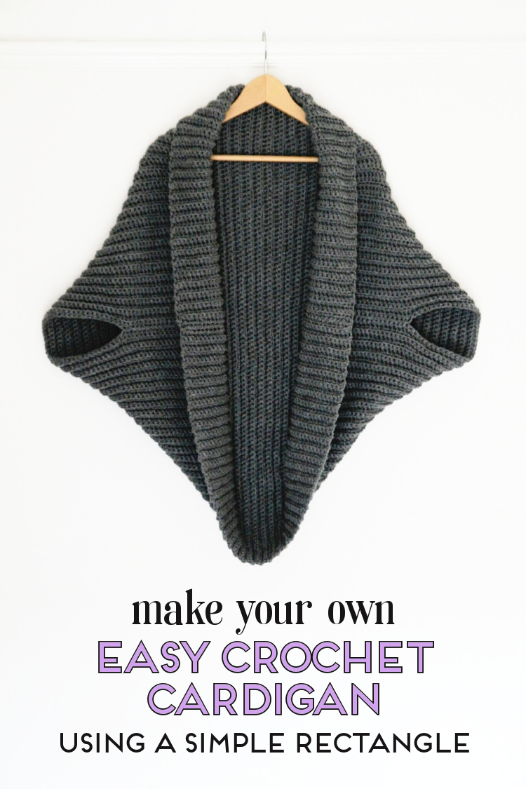 a744d2cfac614 Learn how to make your own crochet cardigan using a simple rectangle and  this free pattern. The perfect crochet project for beginners.