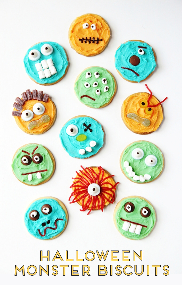 Make Bake And Decorate Your Own Halloween Monster Cookies