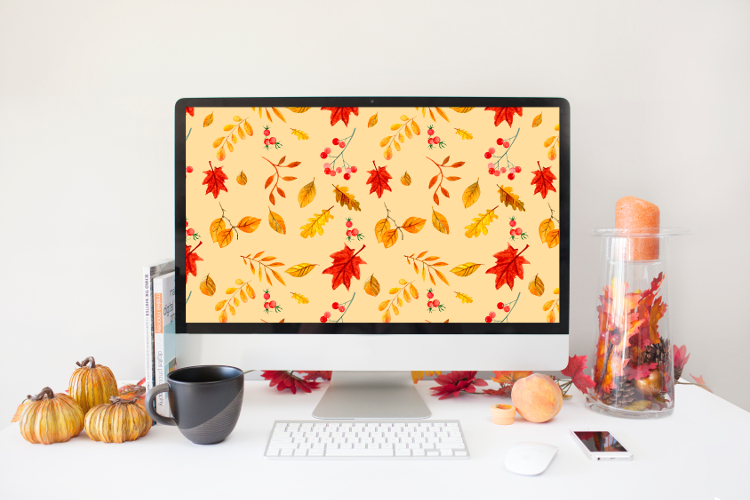 FREE AUTUMN LEAF WALLPAPER FOR YOUR DESKTOP OR PHONE #desktopdownload #freebie #wallpaper #gatheringbeauty