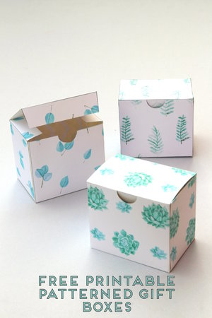 Easy peasy diy origami gift boxes gathering beauty diy printable leaf and succulent patterned gift boxes solutioingenieria Gallery