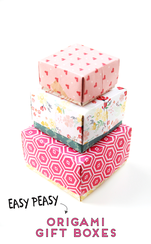 EASY PEASY DIY ORIGAMI GIFT BOXES