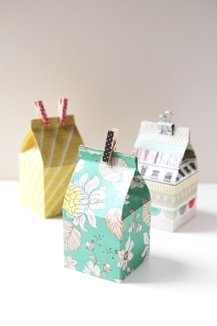 DIY MINI MILK CARTON GIFT BOXES.