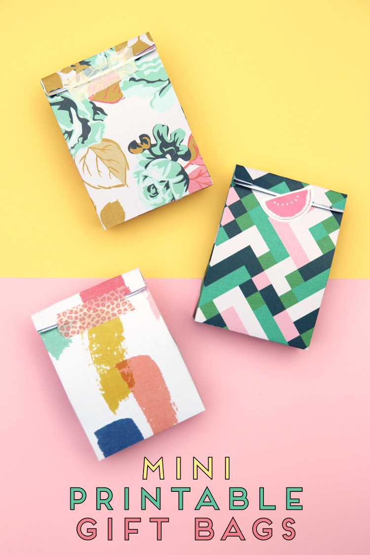 MINI PRINTABLE GIFT BAGS - WITH FREE TEMPLATE.