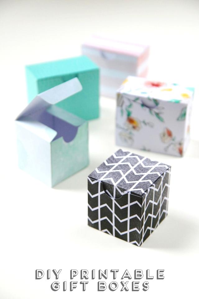 PRINTABLE DIY GIFT BOXES.