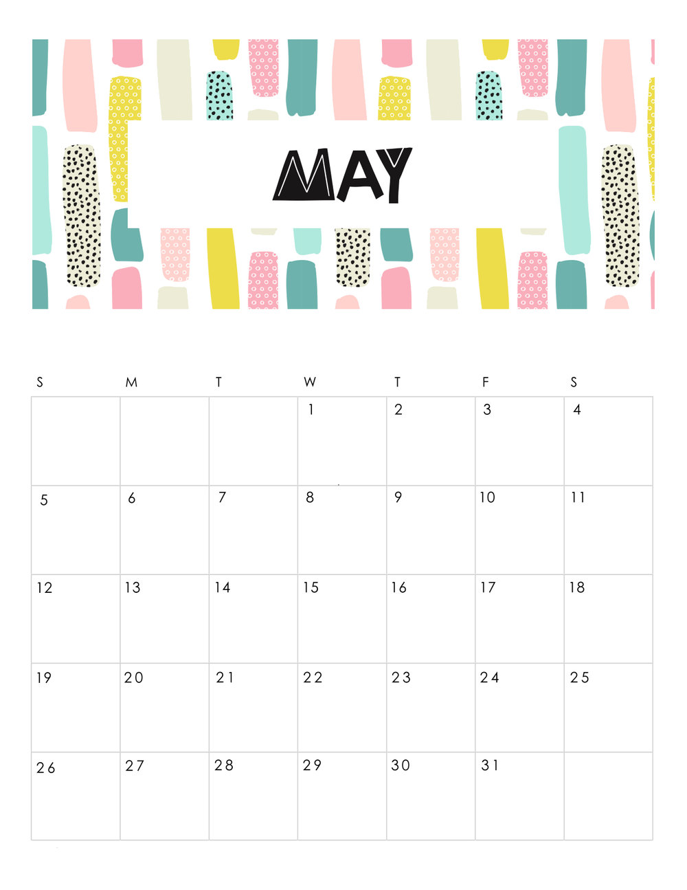 free-printable-abstract-patterned-calendar-2019-may.jpg