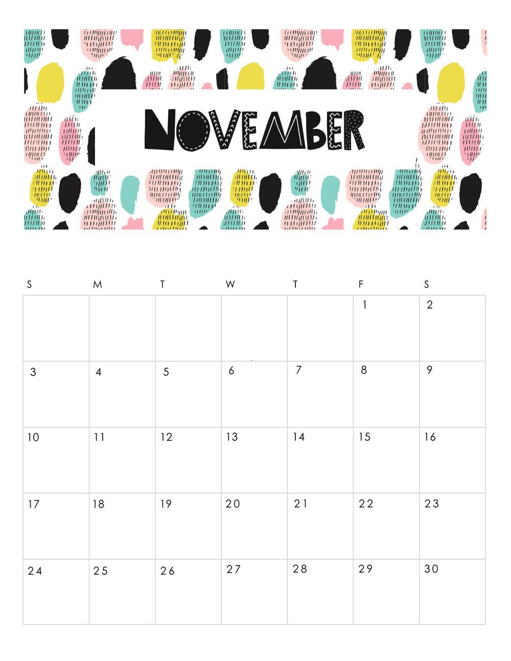 free-printable-abstract-patterned-calendar-2019-NOVEMBER.JPG